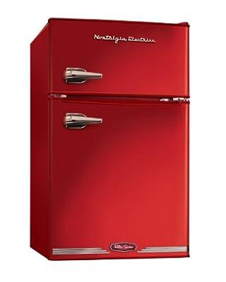Nostalgia RRF325HNRED Retro Series 3.0-Cubic Foot Compact Refrigerator Freezer