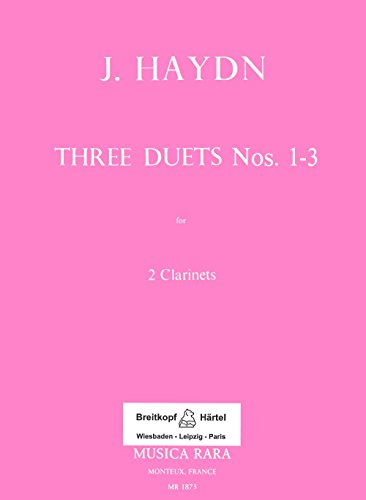 (Sechs Duos Band 1, Nr. 1-3 Clarinette )