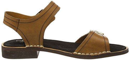 ClarksCabaret Glitz - Sandalias de Talón Abierto Mujer Marrón (Tobacco Leather)