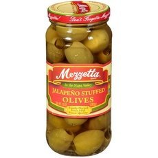 Mezzetta Jalapeno Stuffed Olives 10-ounce Jars (Pack of 6)