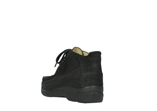 Moc Up Zapatos nbsp;rollo comodidad 06200 Lace Black Wolky 11000 Nubuck qxnpYwREB