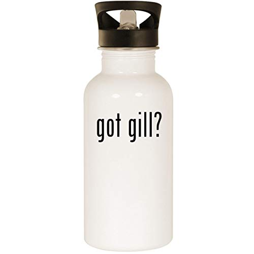 got gill? - Stainless Steel 20oz Road Ready Water Bottle, White