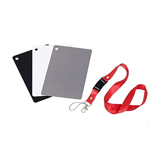 Grigio Focus Bilanciamento due lati carta Double Face Focus Board per fotografia grigio bianco