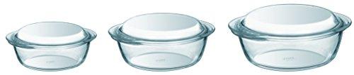 PYREX 3-Piece Borosilicate Glass Casserole Set by Pyrex