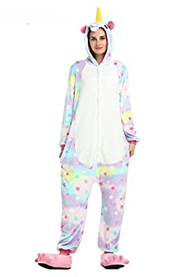 Laizi Magical Adult Unicorn Onesie Pajamas for Christmas Costume and Sleepwear