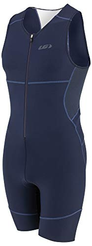 - Louis Garneau Men's Tri Comp Breathable, Padded, Sleeveless Triathlon Cycling Suit, Black Navy/Blue, Large
