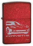 Zippo Chevy C6 Corvette Candy Apple Red Finish Lighter