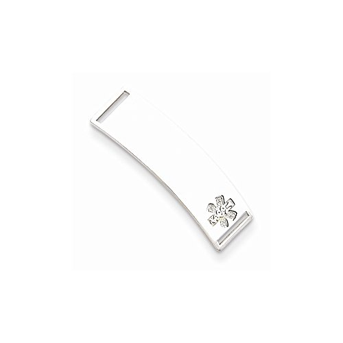 Sterling Silver Non-enameled Medical ID Plate, Best Quality Free Gift Box by VI STAR