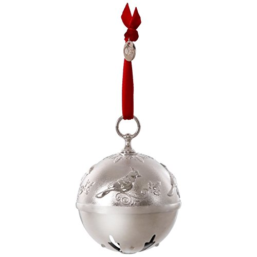 Jingle Bells Gift (Hallmark Keepsake 2017 Ring In the Season Bell and Cardinal Premium Metal Dated Christmas Ornament)