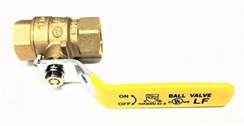 Full Connection - Valogin A10172-1/2 Fully Certified Lead Free Full Port Forged Brass Ball Valve with Female Threaded IPS Connections, 1/2