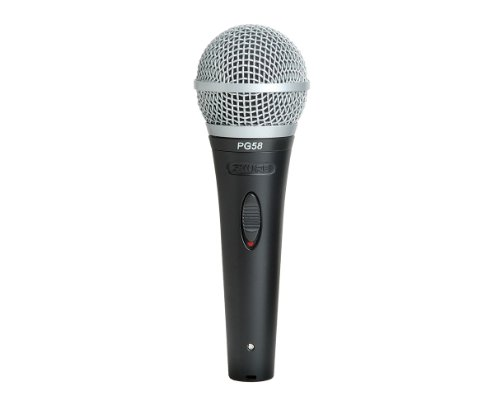 Shure PG58-QTR Cardioid Dynamic Vocal Microphone with XLR to 1/4-inch Cable (Microphone Cardioid Shure Dynamic)