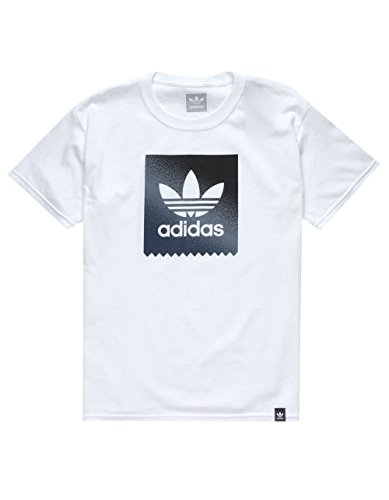 adidas Blackbird Gradient Boys T-Shirt, White, X-Large