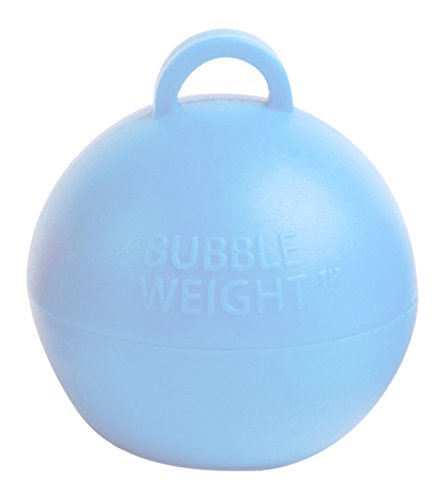 Bubble Weight Balloon Weight, 35 Gram, Baby Blue, 10 Piece