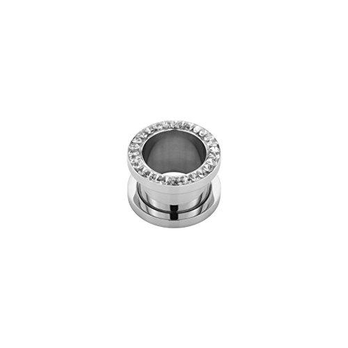 2,5 mm - SB - Sapphire / Blau - Stahl - Flesh Tunnel - Kristall - SWAROVSKI - Supernova Concept (Piercing Tunnel Ohr Plug für gedehnte Ohren Lobes Tubes)