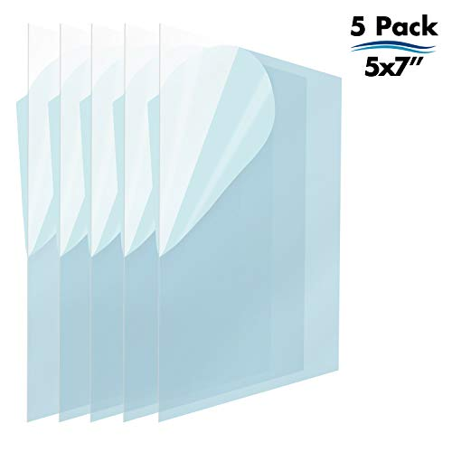 Icona Bay PET Replacement for Picture Frame Glass (5 x 7, 5 Pack) PET is Ideal Replacement Glass Material, Avoid Glass Shattering, Your Superior Replacement Picture Frame Glass Has - 5 Photo Crystal Inch