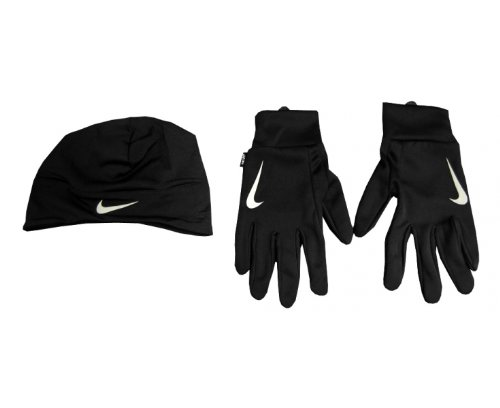 Amazon.com   Nike Dri-Fit Men s Running Beanie Glove Set (Large ... 790bfe3afc5