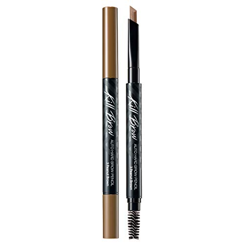 CLIO Kill Brow Auto Hard Eyebrow Pencil | Dual-End, Brow Filler, Long Lasting, Waterproof, Smudge-Resistant, Spoolie…