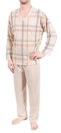 cc990f1843 Herrenschlafanzug, Pyjama, lang,100% Baumwolle, M L XL XXL XXXL (XXXL