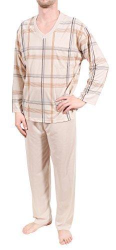 Pijama para hombre, pijama, de largo, 100% algodón, M L XL XXL