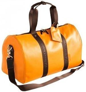 Veuve Clicquot pelle weekend bagaglio a mano borsa da viaggio con tracolla–VCP/Yellow design