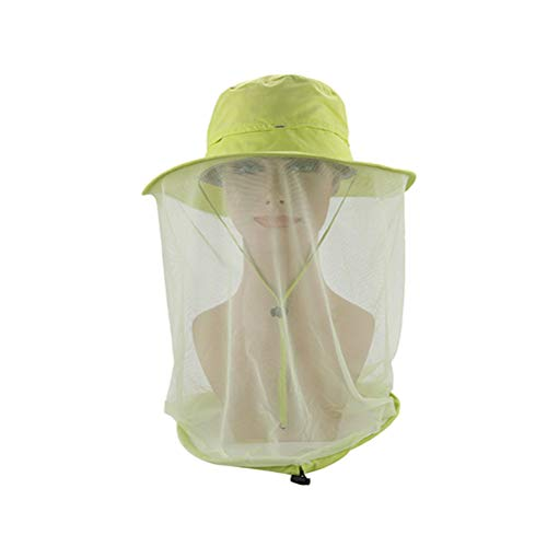 LIOOBO Anti Mosquito Máscara de Abeja Gorra Pesca en el Exterior Casco de Cabeza Cabeza de Malla de Red Oculta Cubierta de...