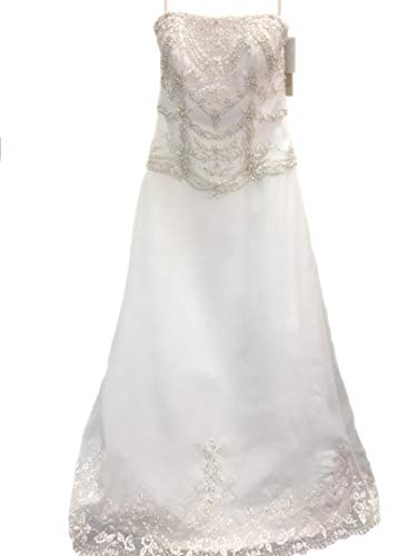 AnnaLisa Spose White Satin Size12 Wedding Dresses for for sale  Delivered anywhere in USA