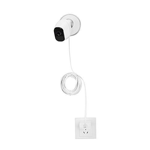 Indoor//Outdoor Cable- Compatible with Arlo Pro Online-Enterprises High Power 25 Foot Flat Arlo Cord Quickest Charging Weatherproof Arlo Pro 2