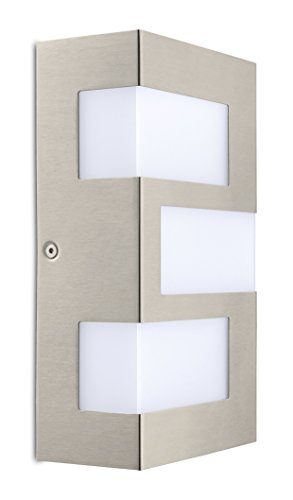 Eglo 94086A 3×2.5W LED Outdoor Wall Light with White Plastic Glass, Stainless Steel Finish Review
