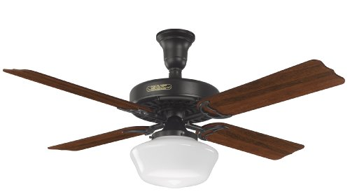 Hunter 23702 52-Inch Hotel Original Ceiling Fan with Adaptair, Satin Black (Star Fan Texas Ceiling)