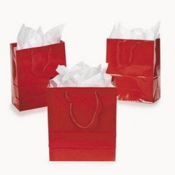 Small Red Gift Bags (1 dozen) - Bulk [Toy] (Gift Red Bag)
