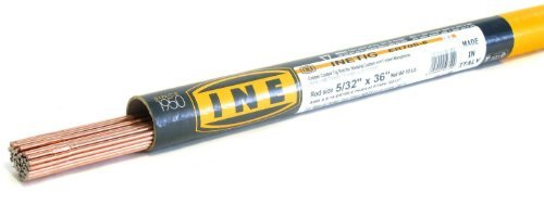 Inetig er70s-6 5 32 x Spirit Level si 10-Pound Tubo Copper Coated TIG Rod for Welding Carbon Magnesio Steels by Ine