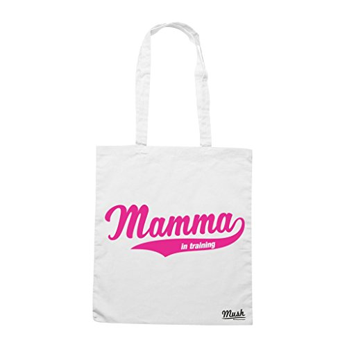 Borsa MAMMA IN TRAINING - Bianca - DIVERTENTE by Mush Dress Your Style
