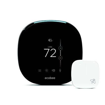 Ecobee4 Voice Enabled Smart Wi-Fi Thermostat w/ Room Sensor