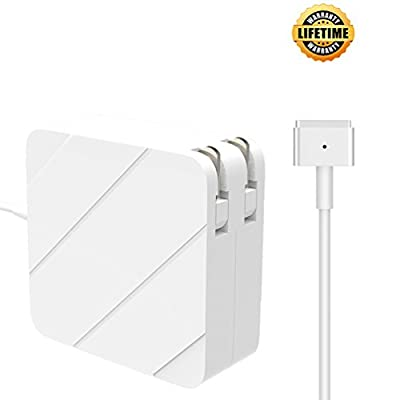 MacBook air Charger, Replacement 45W Magsafe 2 Power Adapter Magnetic T-Tip AC Charger for MacBook Air 11-Inch and 13-Inch (45W)