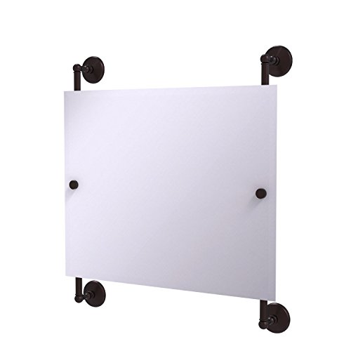Landscape Beveled Dresser Mirror - Allied Brass MC-27-93-ABZ Monte Carlo Landscape Rectangular Frameless Rail Mounted Mirror