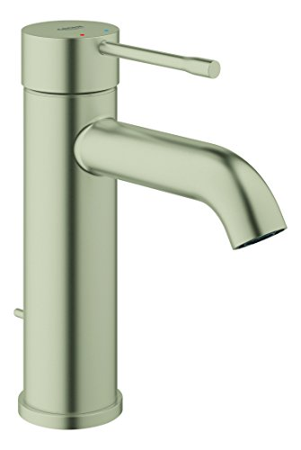 Essence New 23592ENA S-Size Single-Handle Single-Hole Bathroom Faucet, Metallic