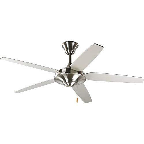 Progress Lighting P2530-09 54-Inch 5 Star Fan with Reversible Silver/Natural Cherry Blades, Brushed Nickel from Progress Lighting