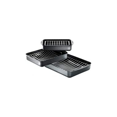 Scanpan Non-Stick Roasting Pan with Stainless Steel Rack (12 x17)