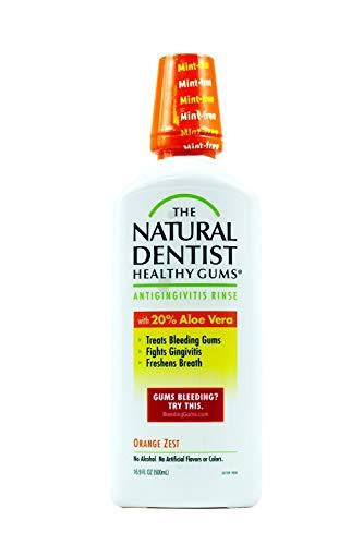 Healthy Gums Mouth Rinse Orange Zest 16 oz, Pack of 4