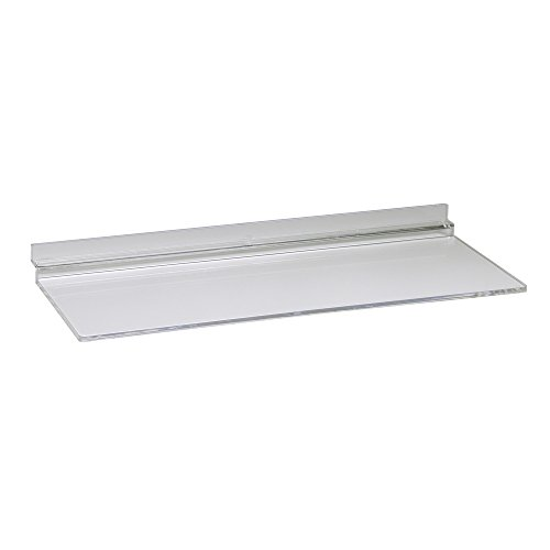 Econoco JM410/AC Injection Molded Acrylic Shoe Shelf, Clear (Pack of 100) by Econoco