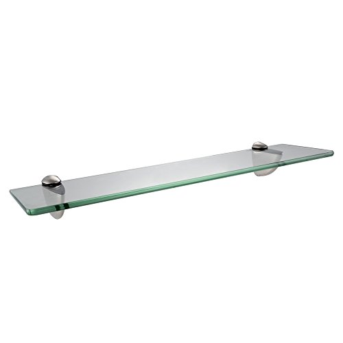 """best Norwell Lighting 3452-BN-GS24 Kathryn 24"""" Glass Shelf with Brushed Nickel Finish: FINAL SALE, NO REFUNDS or RETURNS"""