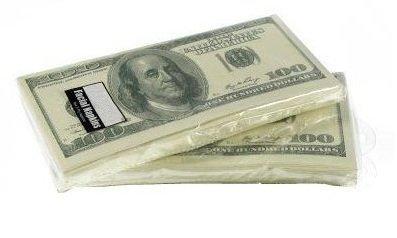 Money Napkins Dollar Bill Total