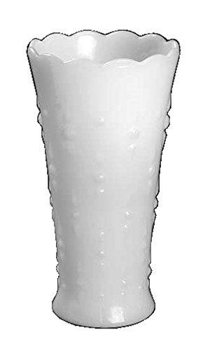 (Anchor Hocking Dots & Arrows Milk Glass ( 7 1/4