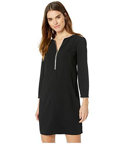 Trina Turk Women's Liqueur Embellished Long Sleeve Dress, Black, 6