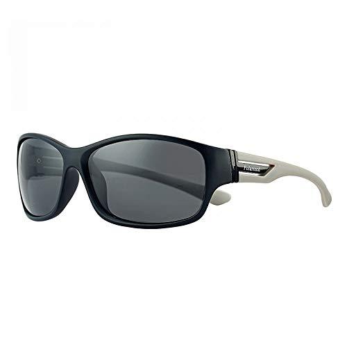 los polarizadas Gafas Hombres de Burenqiq Sol Las Gafas Que de de los de Las Sol Sol Gafas de Negra Pierna de Deportes Rojas leg Gray clásicas montan ABn8fpwWZn