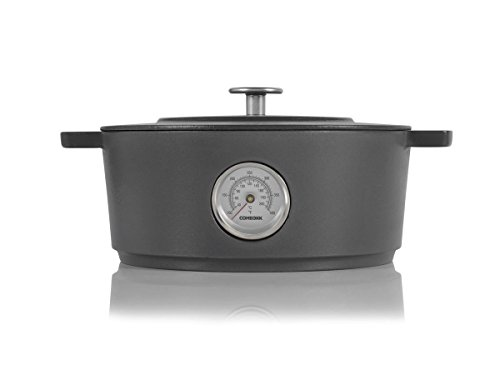 Combekk RAILWAY Recycled Enameled Cast Iron 4.25 Quart Dutch Oven, Concrete, 9.5""