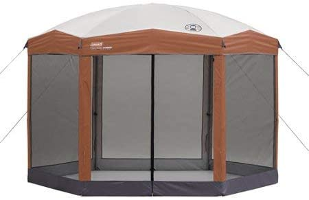Coleman 12 x10 ft Hex Instant Screened Canopy Gazebo