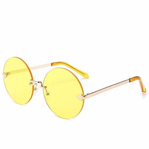 Marco de de Dihuang Flecha Cerco Redondas Sol océano Sol Personalizada Hoja Transparente Pieza Gafas dorado Marco comprimidos Gafas de Gafas sin Intellectuality Negro Z5dY1xZ