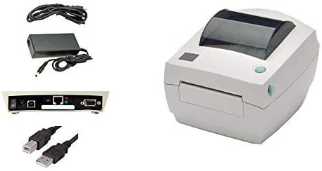 Direct Thermal LP2844 Barcode Label Printer USB and Ethernet Interface Renewed with Power Supply 4 Inch