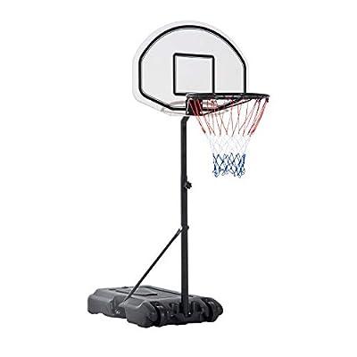 Gecheer Mini Hoop Basketball System Indoor Kids Basketball Hoop Portable Basketball Hoop with Height-Adjustable Pole: Home & Kitchen